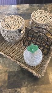 Free tray , napkin holder , pineapple container