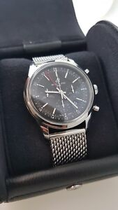 Breitling watch AB015212 Transocean chronograph stainless Steel