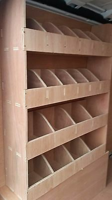 Vauxhall Vivaro,Tool Parts Storage Unit,Shelving,Ply Lining,Van Plywood Racking