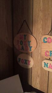 Hand made wooden signs