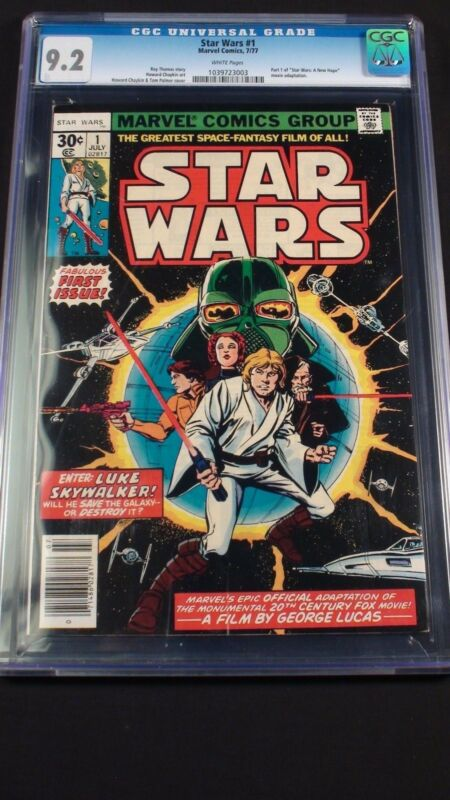 Star Wars #1 CGC graded 9.2!