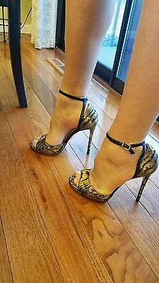 NWT Jimmy Choo PEARL 120mm 3D metallic marble heels sandals size 38 US 7.5 8