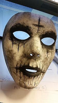 Halloween Handmade Custom Painted Cross Scary Mask The Purge Anarchy Costume NEW - Scary Customs