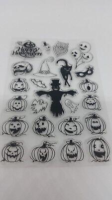 Clear Stamps Stempel Halloween Gruselig Spuk Kürbis Basteln - Halloween Basteln