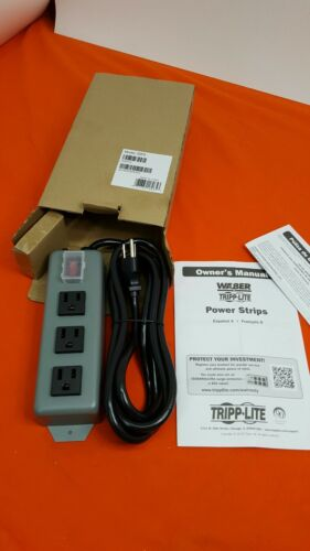 Tripp Lite Waber Industrial Power Strip Metal 5-15R 3 Outlet