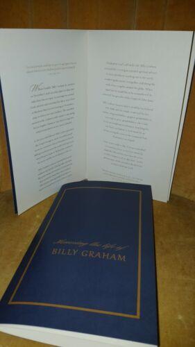 Rev Billy Graham Obituary  Funeral Memorial Service Honoring His Life  Program