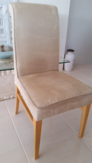 Suede Dining Chairs For Sale