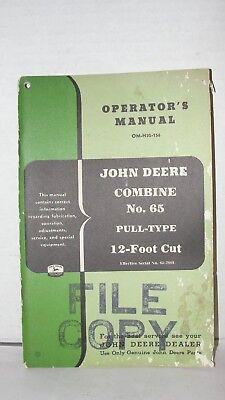 John Deere 65 Pull Type Combine Operators Manual