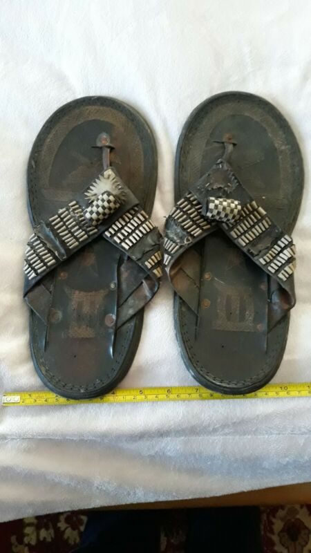 Antique Collectable Unusual Tribe Ritual  Flip Flop Sandals (Rare).