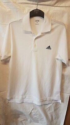 Adidas Golf White Polo Shirt Medium