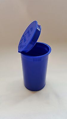 6,12, 25,50,100 Blue & Green Squeeze Pop Top Bottle Medical Container 13&19 Dram - Squeeze Pop