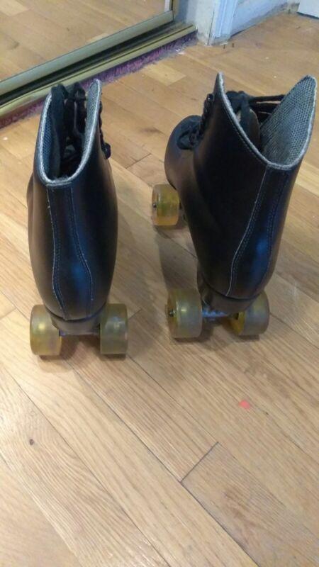 Mens black precision roller skates
