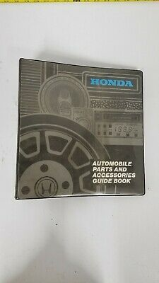 1982 Honda automobile Parts and Accessories Guide Book Vintage Binder