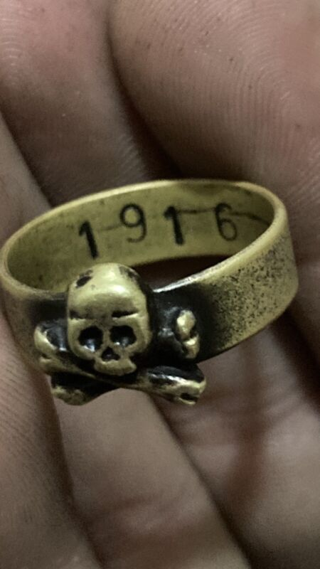 ww1 1916 Ring Skull Crossbones WWI Special Forces Shock Troops US Size 10