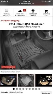 Weather tech front liner for Infiniti Q50 2014