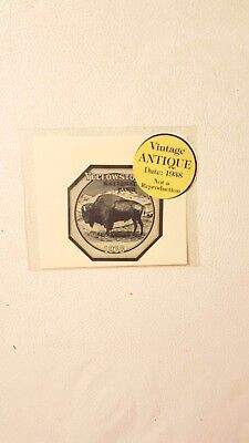 Vintage 1938 Yellowstone National Park Entry Sticker