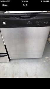 """Excellent working 24"""" stainless steel dishwasher"""