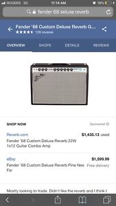Fender '68 Deluxe Reverb Amp - Great Condition!
