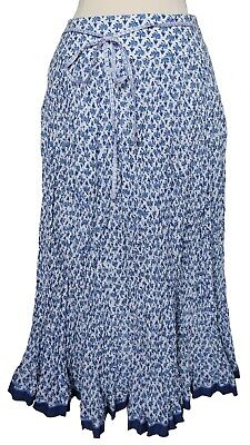 Hand Block Printed Cotton Skirt - Anokhi Crinkle Skirt - bibi flower - 100% cotton - hand block printed