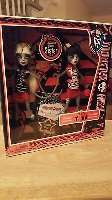 Monster High MEOWLODY & PURRSEPHONE Dolls Toys R Us Exclusive Sisters 2 Pack NIB