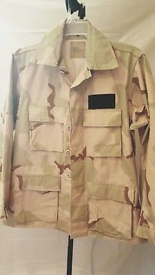 US Army Desert Camo DCU Combat Jacket Shirt (Size: Medium - Regular)