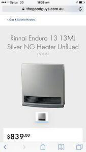Rinnai gas heater enduro 13mj timer cost $839  sell $349 Dianella Stirling Area Preview