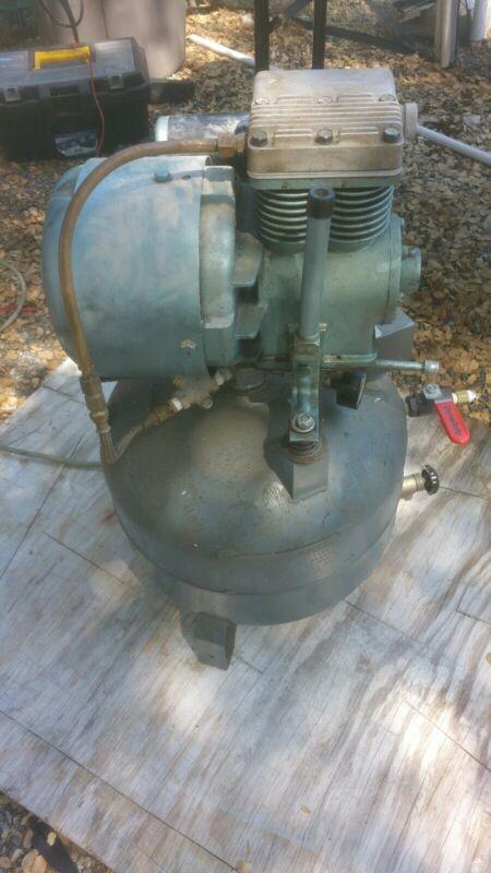 Vintage Used Working Pelton Crane Co Dental Air Compressor 115 volts