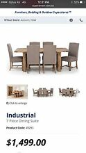 7 Piece wooden dining table and chairs Camden Camden Area Preview