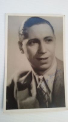 George Formby autographed post card 1938