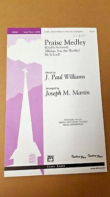 Lot of 11 Praise Medley 2002 Williams Martin SATB Choral Octavo Level 3