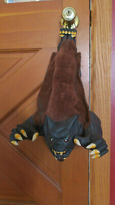HANGING Vampire BAT Scary Prop HALLOWEEN Decor RUBBER 16