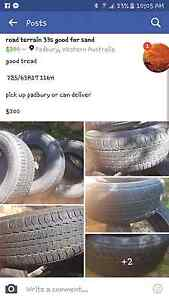Swap for 15inch 4x4 tires Padbury Joondalup Area Preview