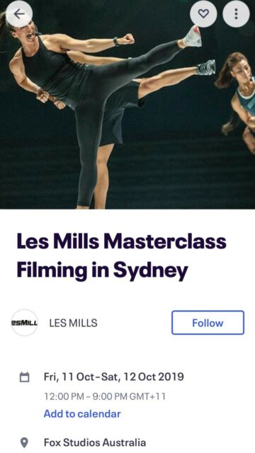 WTB Les Mills Filming in Sydney RPM ticket | Other Sports
