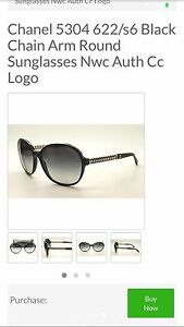 REAL CHANEL SUNGLASSES BLACK - MAKE AN OFFER Georgetown Newcastle Area Preview