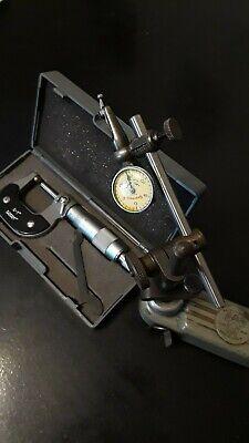 Machinist Tools Lot Starrett Last Word 0-1 Micrometer Mighty Mag Indicator Base