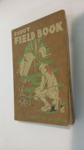 Vintage 1944 BSA Boy Scouts of America Field Book - Hiking Camping Nature Crafts