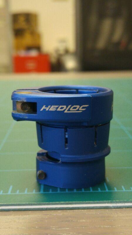 """Hybrid """"Hedloc"""" clamping feedneck for EGO/ETEK. Blue. RARE!"""