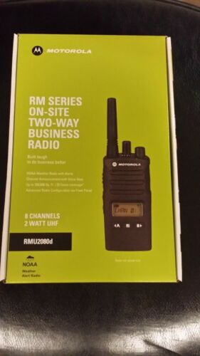 New  Motorola RMU2080D 2 Way Lithium Radio UHF 8 Channels FREE SHIPPING BUSINESS