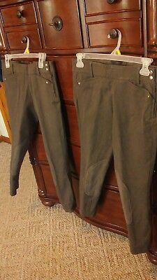 (Ariat Heritage Low Rise Side Zip Riding Breech Expresso 32 NWOT)