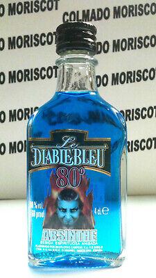 ABSENTA LE DIABLE BLEU 4cl 80% miniatura mignonette minibottle flaschen ABSINTHE