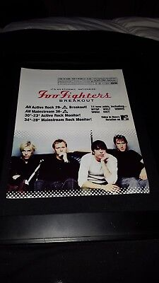 Foo Fighters Breakout Rare Original Radio Promo Poster Ad Framed!
