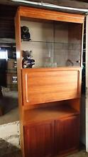 Tall Handsome Glass and Wooden Display Cabinet - 2.1m Tall Highgate Hill Brisbane South West Preview