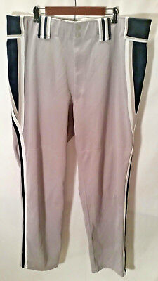 d3543f3b2731 BOOMBAH Men's Baseball Softball Pants Gray Black/White Stripe Size 46 Long