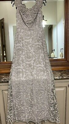 Tadashi Shoji Embroidered Lace Off Shoulder Dress Nwt Size 2