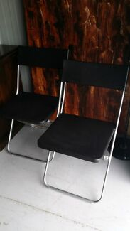 Ikea 2 foldable chairs, TV unit and coffee table Ferntree Gully Knox Area Preview