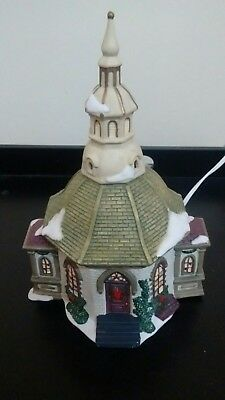 Dicken's Collectables Towne Series Porcelain Hand Painted Lighted House