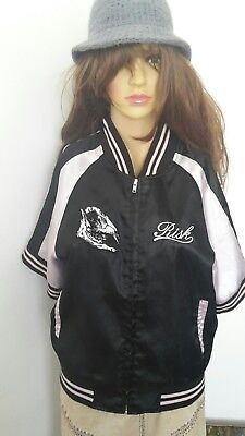 Size M Black Pink Ladies Hip Hop jacket Japanese life at your own risk authentic - Authentic Pink Ladies Jacket