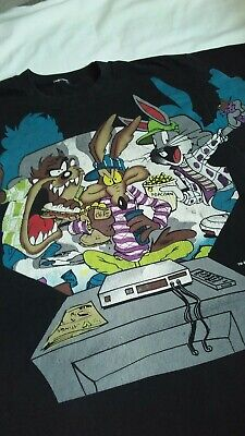 Vintage 90s 1995 bugs taz Freeze New York t shirt Double Sided Graffiti Hip Hop