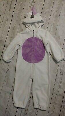 Crazy 8 Baby Unicorn Fleece Dress Up Halloween Costume Party 12-24 Month Girl