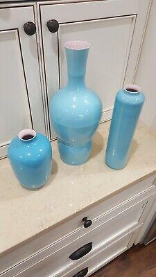 Oriental Vases (Trio 3 Oriental Vases Turqoise)